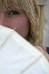 Bright-shining Betsy. Day Fifty-six. (SoliloquyTea) Tags: portrait girl austin eyes texas bright blond parasol hazel blonde betsy