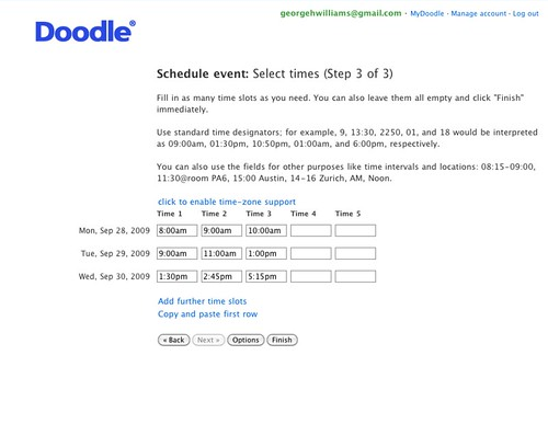 Scheduling Using Doodle To Find The Best Time For A Committee