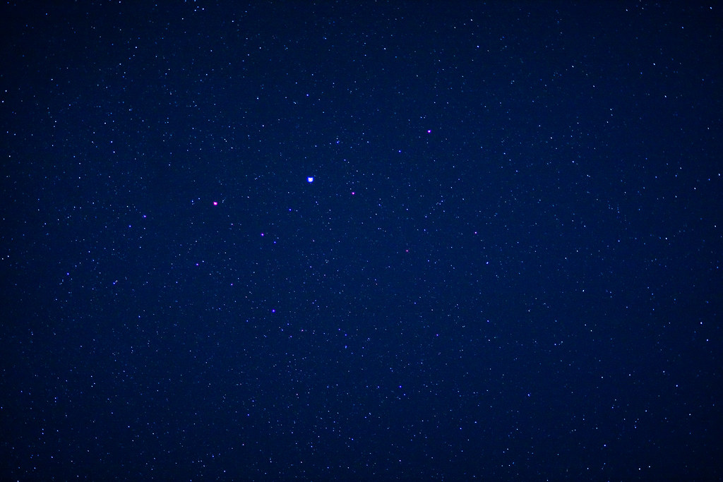 Its amazing how many stars you can still see from our backyard...