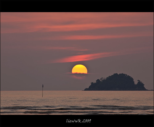 400mm sunset