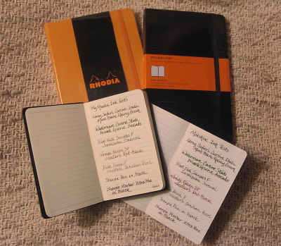 Rhodia Webnotebook vs Moleskine Journal