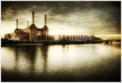 Power.. (jetbluestone) Tags: london texture station thames river power battersea hdr