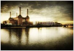 Power.. (jetbluestone) Tags: london texture station thames river power battersea hdr