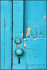 Turquoise (LucyBDA) Tags: ocean door wood old blue sea color colour rot rotting st handle wooden aqua peeling paint open bright lock turquoise entrance away stgeorges chip bermuda shallow colourful welcome cheerful knob georges entry welcoming chipping