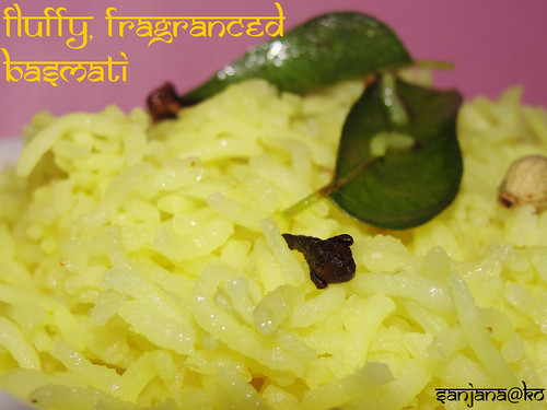 fluffy, fragranced basmati