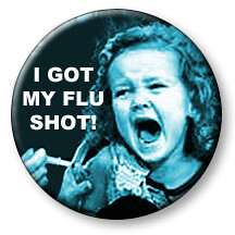 Flu shot badge