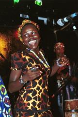 Mac Tontoh Project from Ghana at the Africa Centre London July 2001 013ok with Vida Abena Owusua (photographer695) Tags: world africa from 2001 abena music london mac african centre band july jazz ghana vida warriors ashanti kete trumpeter amanas osibisa tontoh owusua nanaeba exosibisa