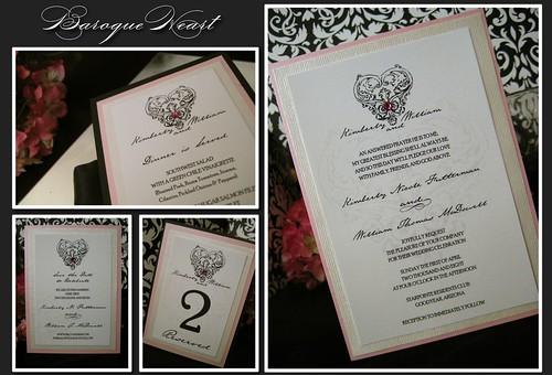 Baroque Heart Invitation