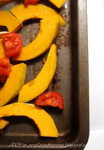 teglia di zucca e pomodorini