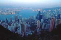 Hong Kong Skyline: East (adventurocity) Tags: travel vacation tourism skyline hongkong central adventure midlevels northpoint victoriapeak victoriaharbour peaktower kowloonbay hongkongtrail