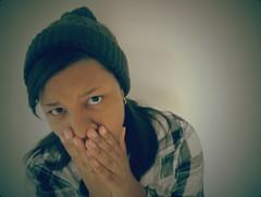 Shocked (Shuuhnay) Tags: lomo plaid beanie shocked