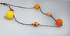 Paper Bead Gumball Necklace - Red, Orange, Yellow, Pink