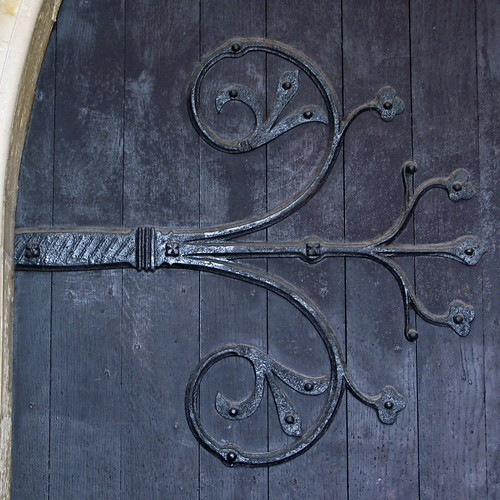 Ornate Hinge, South Door. / Thorskegga Thorn
