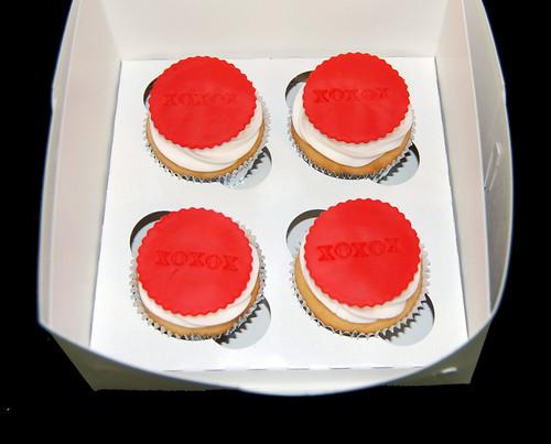 XOXOX Anniversary Cupcakes