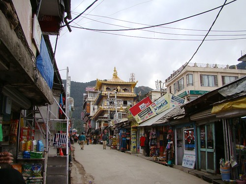 one of the two streets of dharamsala