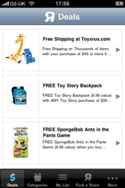 Toys R Us app