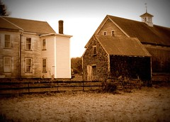 The Lens of Time 09.11.24 91124_10 (rowland-w) Tags: old sepia farmhouse barn rural canon farm massachusetts rustic newengland northshore fading newbury s90 twop