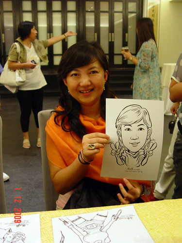 Caricature live sketching for Siam Express - 6