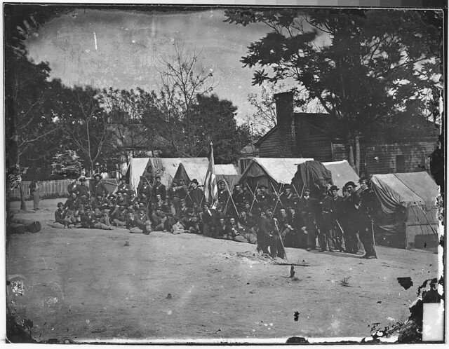 Infantry company on parade by The US National Archives