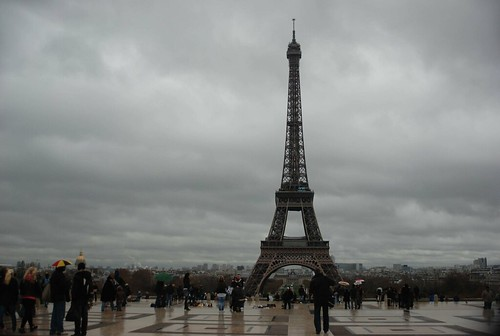 Paris in November grey