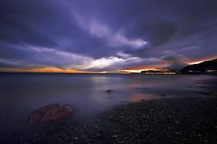 Strange Light (fabbbio986) Tags: sunset clouds long exposure