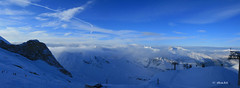 Hintertuxer Gletscher - North West  Panorama View from Gefrorene Wand (dali@flickr) Tags: snow ski alps skiing bluesky glacier alpen gletscher austrian glacial mountans  hintertuxer