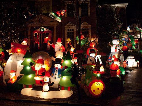 Most Christmas Inflatables Ever