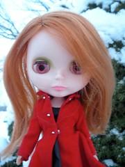 Pretty girl, pretty snow.
