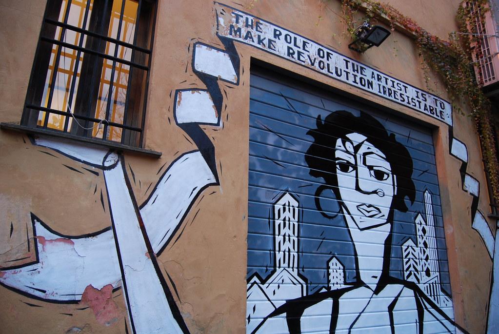 YO PEACE CREW ART ATTACK MURAL ROME ITALY.