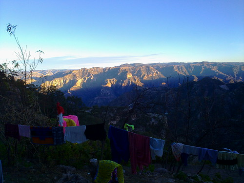 Clothesline with a view