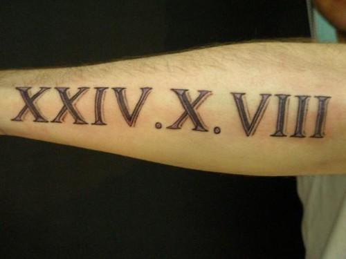 roman numerals tattoo. Roman numeral tattoo