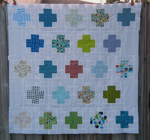 Modern Baby Crosses Baby Quilt Top - View #1