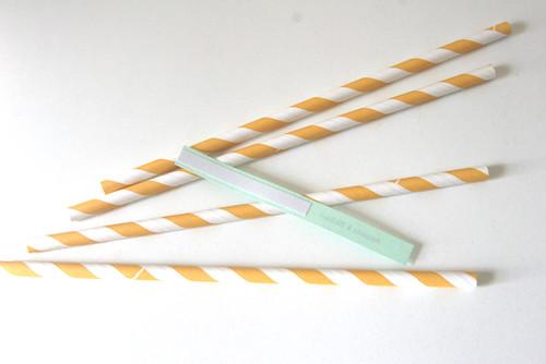 Cut straw flag