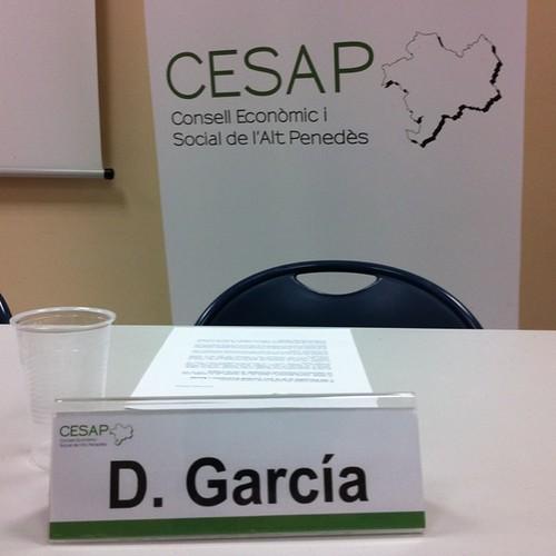 A la presentació del Consell Econòmic i Social de l'Alt Penedès (CESAP)