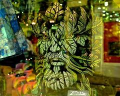 Greenman (violetchicken977) Tags: gorgeousgreenthursday greenman edgesculpture shopwindow green ogt