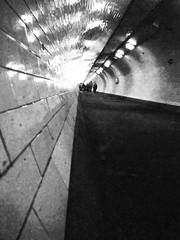 Off kilter (MiguelHax) Tags: london underpass greenwich tunnel monochrome bw wb blackandwhite whiteandblack noretblanc