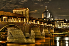 ponte coperto hdr (jojofotografia) Tags: city trip travel light vacation sky italy panorama color art nature water architecture night photography interesting nikon eau europa europe italia colore arte lumire fiume rivire ponte via explore ciel cielo d200 acqua colori veduta antico atmosfera viaggio romantico notte architettura hdr couleur luce vacanze sincity citta villes fleuve notturno prospettiva storico pavia historique antichit paesi d90 nostolgia nikon200 hdrpicture stealingshadows miasbest daarklands magicunicornverybest reflectionslovers bittourismaward bitchannel hdrobsessed