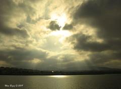 Peeking Sun (Mine Beyaz) Tags: sea cloud sun water clouds turkey cloudy turkiye istanbul deniz bulutlar bulut turkei blueribbonwinner mywinners theunforgettablepictures minebeyaz