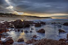 The Inner Light (WilliamBullimore) Tags: ocean sea sun reflection water sunrise dawn rocks waves australia melbourne victoria rays greatoceanroad hdr hdri atomicaward