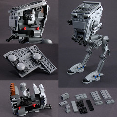 AT-ST from 8038 modified into a two-seater (Larry Lars) Tags: starwars lego walker endor