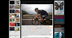 LANCE ARMSTRONG SURGES BACK TO ACTION IN THE TOUR DE FRANCE ON A MARC NEWSON TREK TTX ART BIKE_1249007159438