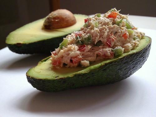 Larky's Kitchen Getaway: ~ Tuna-Stuffed Avocado Tapas