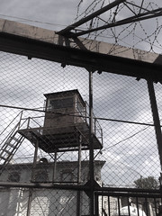Watch Tower (Toni Kaarttinen) Tags: fence tallinn estonia aids fort prison jail horror barracks barbwire fortress watchtower seafortress patarei patareivangla patareiprison keskvangla aidshospital