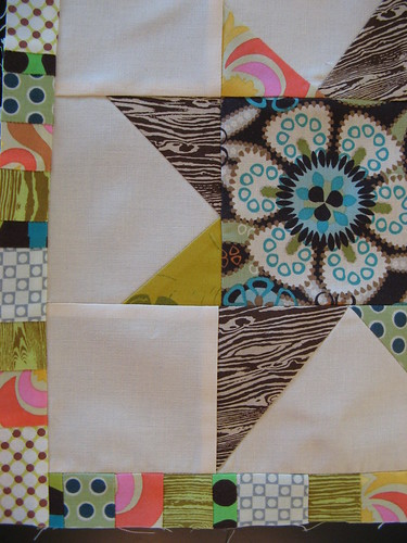 Detail of wonky star block