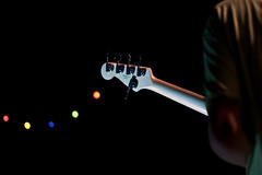 The Bassist (janbat) Tags: light black france canon 50mm noir bokeh lumire f18 bassiste charentemaritime 40d jbaudebert montfabien hardtobegreen
