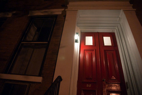 A red door from the East Village