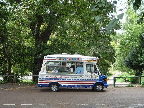 Ice cream van Hampstead Heath