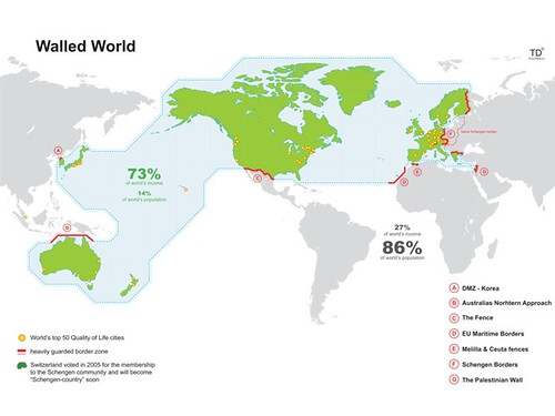 Information is Beautiful - The Walled World / Amber Case