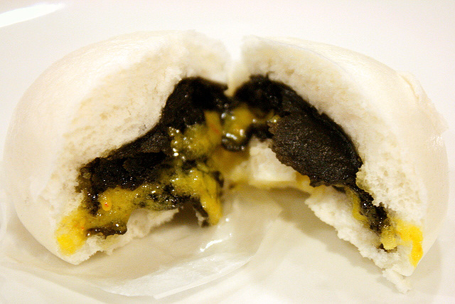 Custard Bun with Sesame Paste