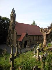 GWUK-308 St Michael's Cemetery Chapel (RC), Rivelin Valley, Sheffield. (Budby) Tags: guesswhereuk gwuk chapel victorian sheffield church hadfield cemetery catholic romancatholic southyorkshire